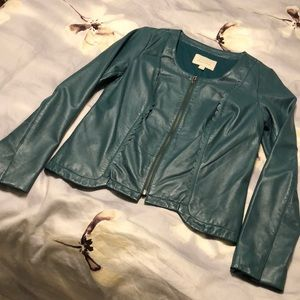 NWOT. Leather Jacket by Hinge, designed in Seattle